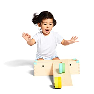 solid wooden block set building blocks shape sorter puzzle pull car learning educational toy STEM