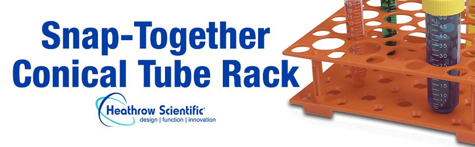 Conical Tube Rack Snap Heathrow Scientific Test holder storage lab water bath testing equipment