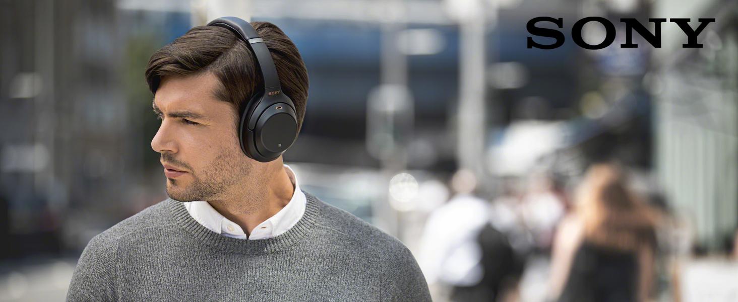 Sony WH 1000XM3 kabellose Bluetooth Noise Cancelling Kopfhörer (30h Akku, Touch Sensor, Headphones Connect App, Schnellladefunktion, Amazon Alexa,