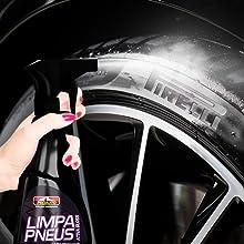 limpa pneus super brilho gatilho facil de usar pneu pretinho proauto