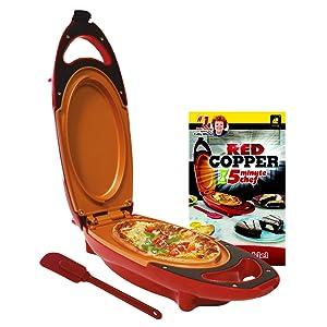 Red Copper 5 Minute Chef Non Stick Omelette Pan Amazon