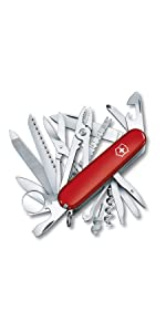 Swisschamp Standard Family SAK Swiss Army Knife Red Image knife with functions