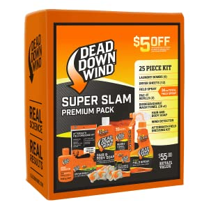 Super Slam Kit Dead Down Wind Hunting Laundry Field Spray Biodegradable Wash Towel Hair & Body Soap