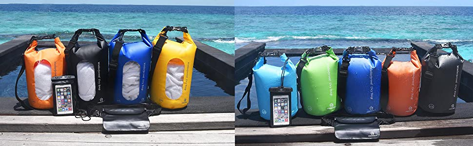 Waterproof Float Dry Bag with Seals and Strap