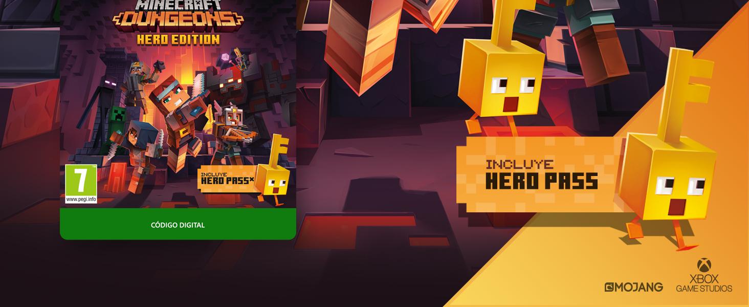 Minecraft Dungeons: Hero Edition | Xbox One - Código de descarga ...