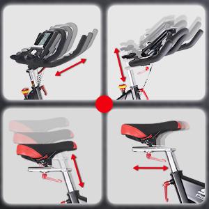 manillar ajustable y silla de montar
