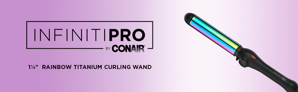INFINITIPRO BY CONAIR Rainbow anium Curling Wand; 1 1/4-inch Curling on