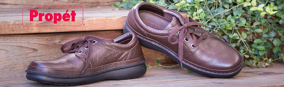 Propet Mens Stability Walker Shoe Choco 3E Black Nubuck 11.5 X /& Cleaner