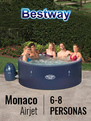 Bestway 54113 - Spa Hinchable Lay- Z-Spa Monaco Para 6-8 personas
