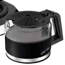 KRUPS coffee maker, coffee maker, grind and brew, built in grinder, coffee maker, coffee pot, glass
