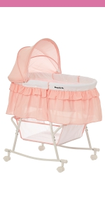 bassinet, cradle, dream on me, lacy, portable, 2 in 1, lightweight