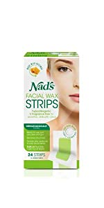 nads hair removal facial wax strips