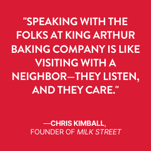 chris kimball, milk street, baking book, baking author, cookbook, king arthur baking