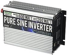 Power TechON 600W Pure Sine Wave Inverter 12V DC to 120V