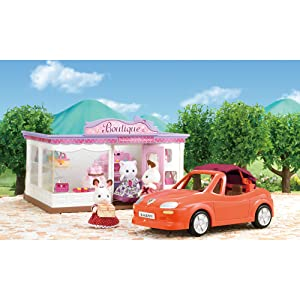 Calico Critters Boutique and Convertible Car