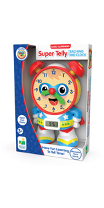 super telly, teaching time clock, electronic