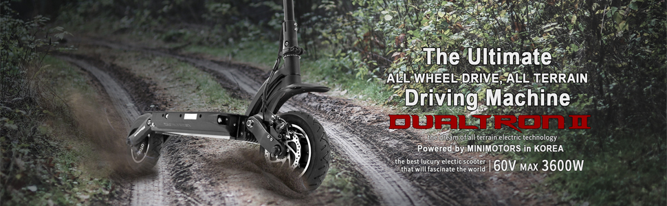 Dualtron II Limited Fast Electric E Scooter, 3600W Peak Power Dual Motor   Max Speed 40+mph   60V 28Ah 1685Wh Battery   65 Miles Distance   Climbing ...