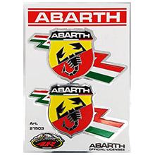 160 mm Nero Abarth 21581 Adesivi Prefustellati Scorpione