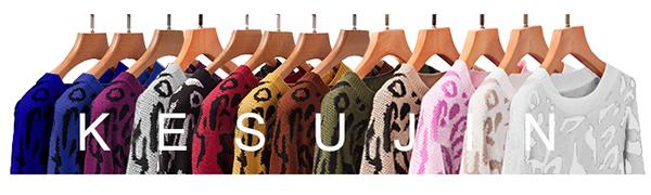 Casual leopard print sweater
