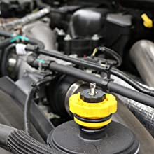 These adapters form an airtight seal in the neck of a vehicle's power steering pump air evacuation.