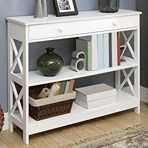 Amazon.com: Convenience Concepts - Mesa consola Oxford ...