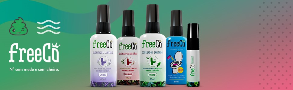 Freecô; Bloqueador de odores sanitários; Desodorizador; Bloqueador de odores