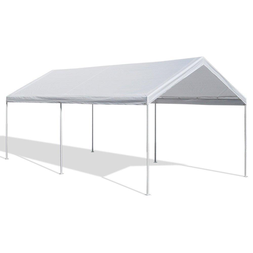 carport canopy carport ...  sc 1 st  Amazon.com & Amazon.com : Caravan Canopy 10 X 20-Feet Domain Carport White ...
