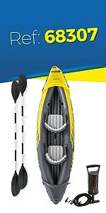 Intex 68309NP - Kayak hinchable K2 Excursion Pro con 2 remos ...