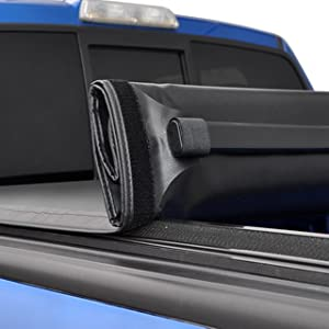 TYGER T1 Soft Roll Up Rolling Tonneau Cover Truck Bed Cover Tonno Cover Cross Bar