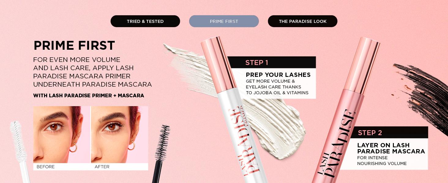 L'Oréal Paris Lash Paradise Mascara, Mascara, Volumising, Lash Paradise, Lengthening Mascara, Black
