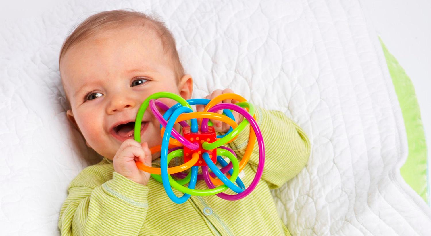 $6.16 (was $18) Manhattan Toy Winkel Rattle and Sensory Teether Toy
