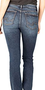 SILVER JEANS CO ELYSE SLIM BOOT CURVY FIT JEANS