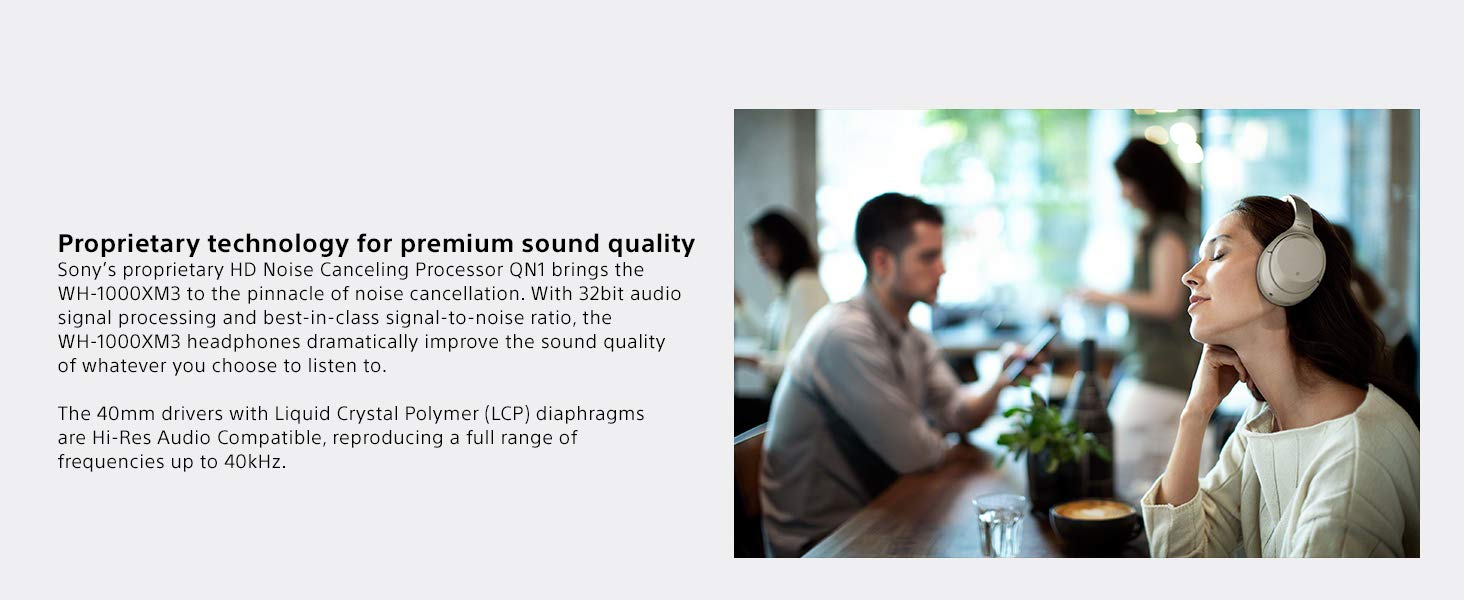 Proprietary technology for premium sound quality