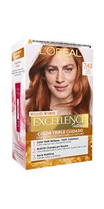 LOréal Paris Excellence Intense Coloración Tono: 7,43 Rubio ...
