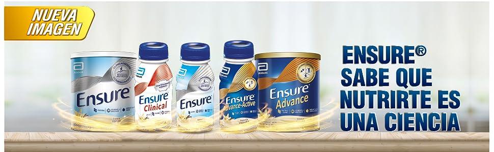 ENSURE, ENSURE CLINICAL, ENSURE ADVANCE, NUTRICION, ALIMENTACION