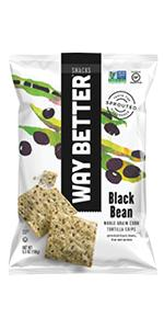 black bean sweet chili flavored sprouted tortilla chips