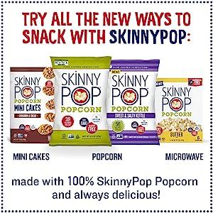 mini corn cakes popcorn treats healthy snacks Hershey's