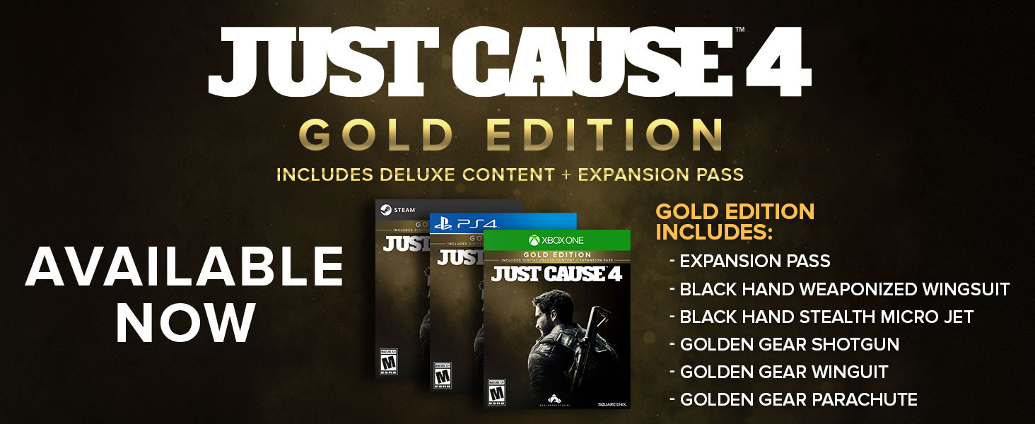 Amazon.com: Just Cause 4-Gold Edition - PS4 [Digital Code ...