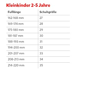Calculadora de tallas para niños pequeños