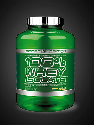 Scitec Nutrition 100% Whey Isolate con L-glutamina adicional, 2 kg, Fresa