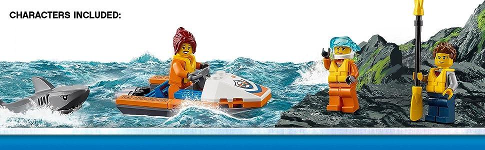 Amazon.com: LEGO City Coast Guard 60166 - Kit de ...