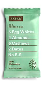 Mint chocolate bar, Chocolate protein, protein bar, rxbar, rxbars, protein bars, health bar, protein