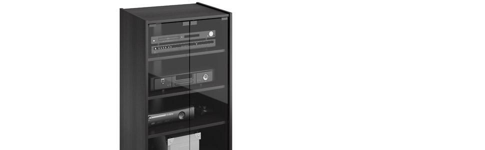 Amazon.com: Sonax CR-2360 Cranley Wide Enclosed Component Stand ...