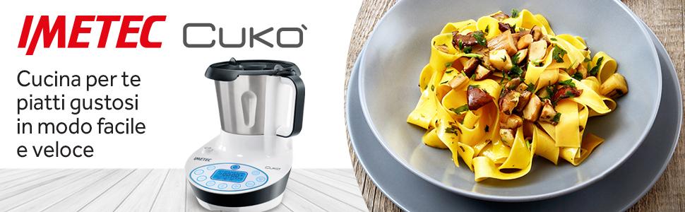Imetec cuko robot da cucina multifunzione con cottura food processor cooking machine