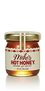 mike's hot honey sweet spicy honey with a kick condiment hot sauce gift set wedding mini jar
