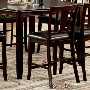 Amazon furniture of america frederick 9 piece square counter furniture of america frederick 9 piece square counter height table set with 16 inch expandable leaf watchthetrailerfo