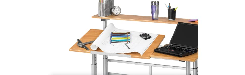 Drafting Table, Split Level Drafting Table, Height Adjustable Table, Height  Adjustable Split Level
