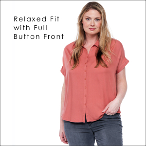 relaxed fit button down front downeast