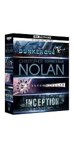 coffret;Nolan;4K;UHD;Dunkerque;Dunkirk;Interstellar;Inception;cadeau;Noel