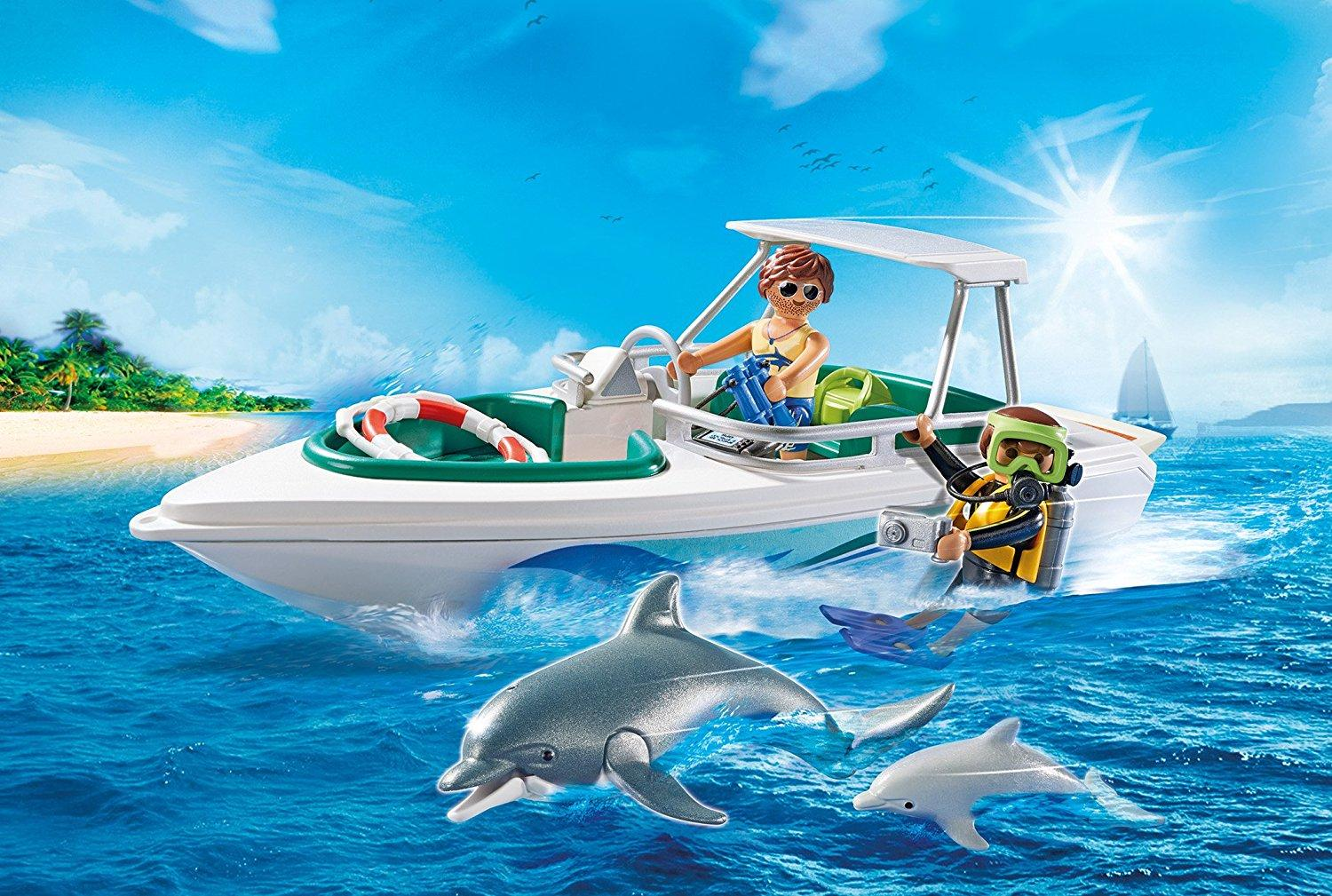 Amazon.com: PLAYMOBIL Diving Trip: Toys & Games